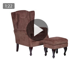 Mulberry Fireside Chair with Footstool