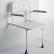 Roma Wall Mounted Seat with Arms and Backrest