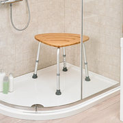 Deluxe Bamboo Bath Stool