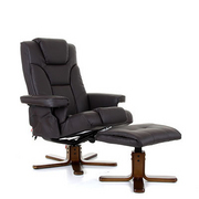 Boden Heat and Massage Swivel Recliner