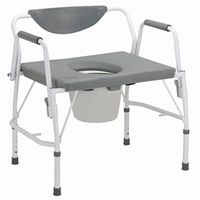 Deluxe Bariatric Drop Arm Commode