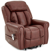 Lynton riser recliner in cream leather