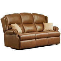 Claremont Leather 3-Seater Sofa