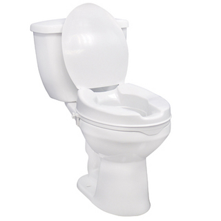 Raised Toilet Seat With Lid To Aid Mobility In The