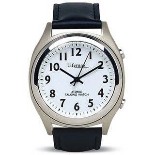Mens White Dial with Leather Strap - Watch