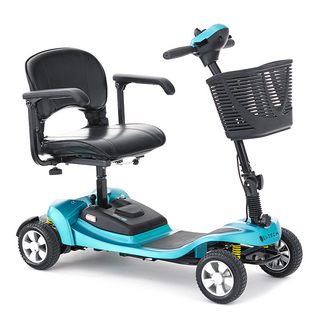 li-tech air mobility scooter in blue