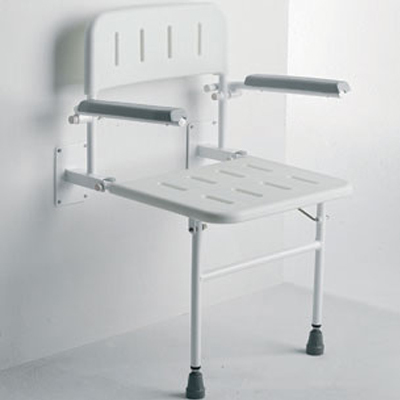 Wall Mounted Seat with Arms & Backrest