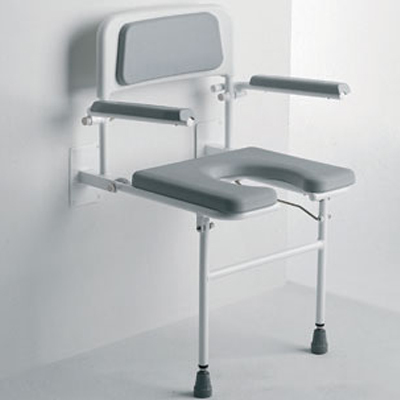 Wall Mounted Seat w/ Arms and Backrest