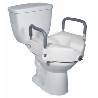 2in1 Locking Elevated Toilet Seat