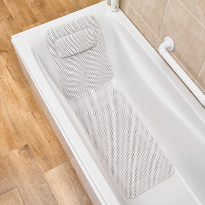 Comfi Anti - Slip Mat with Pillow bathing experience