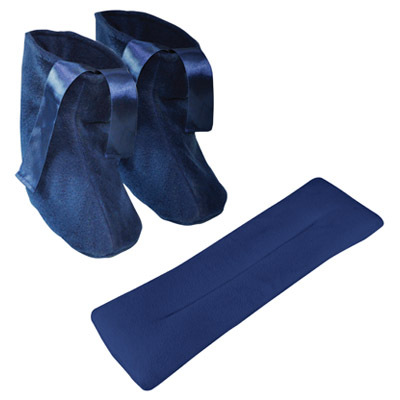 Microwavable Slippers and Neck Warmer Set night