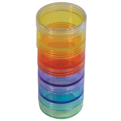 Stackable Pill Box With Transparent Compartments Careco