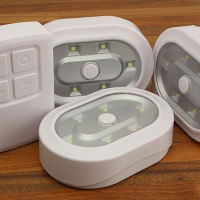 Remote Control Wireless LED Lights (3 Pack)