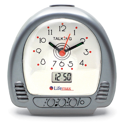 Talking Alarm Clock with Hands and Digital Display