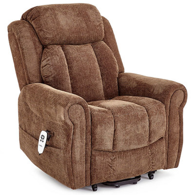 Cromwell Brown Fabric Riser Recliner Chair