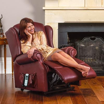 Claremont Leather Manual Recliner