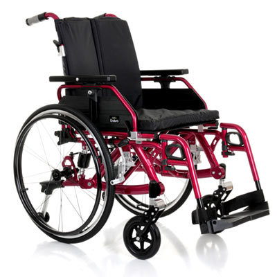 red suspension wheelchair