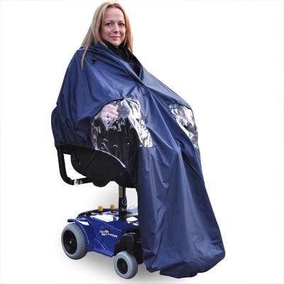 Splash Powerchair Cape - Lined cold weather