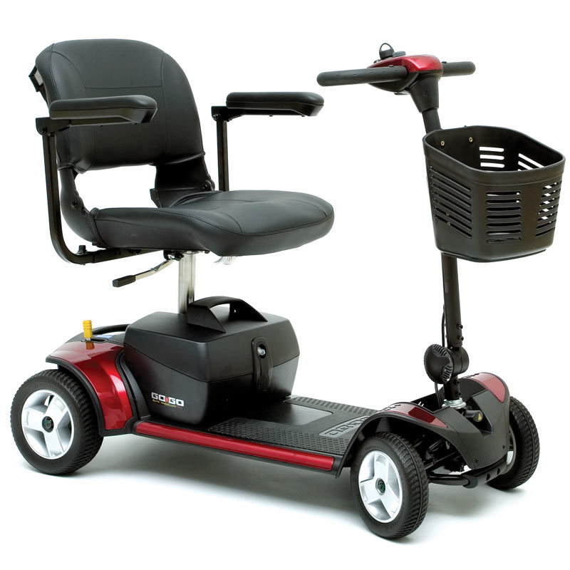 Pride Go Go Elite Traveller Plus 4 Red Mobility Scooter ...