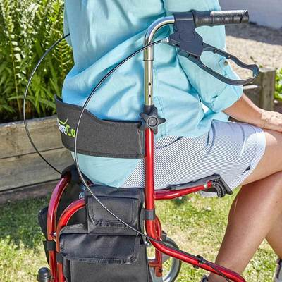 Liteway tri walker with seat careco tri walkers for Mobility walker