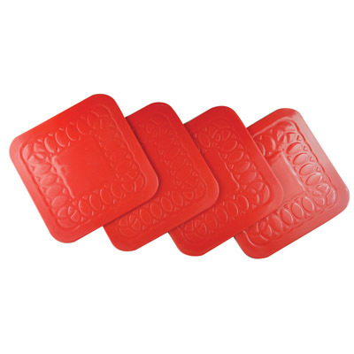 Anti Slip Rubber Square Coaster tea and coffee