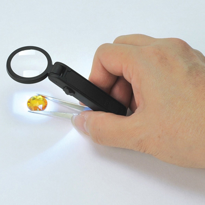 Lighted Tweezers Magnifier