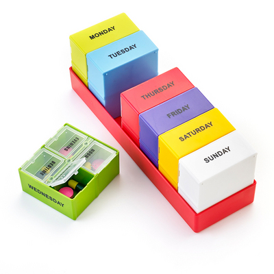 ColourMax Removable Weekly Pill Organiser