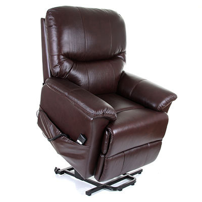 Montreal Leather Dual Motor Electric Riser Recliner Chair Riser Recliner C