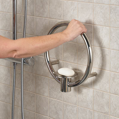 Spa Soap Dish with Integrated Grab Rail