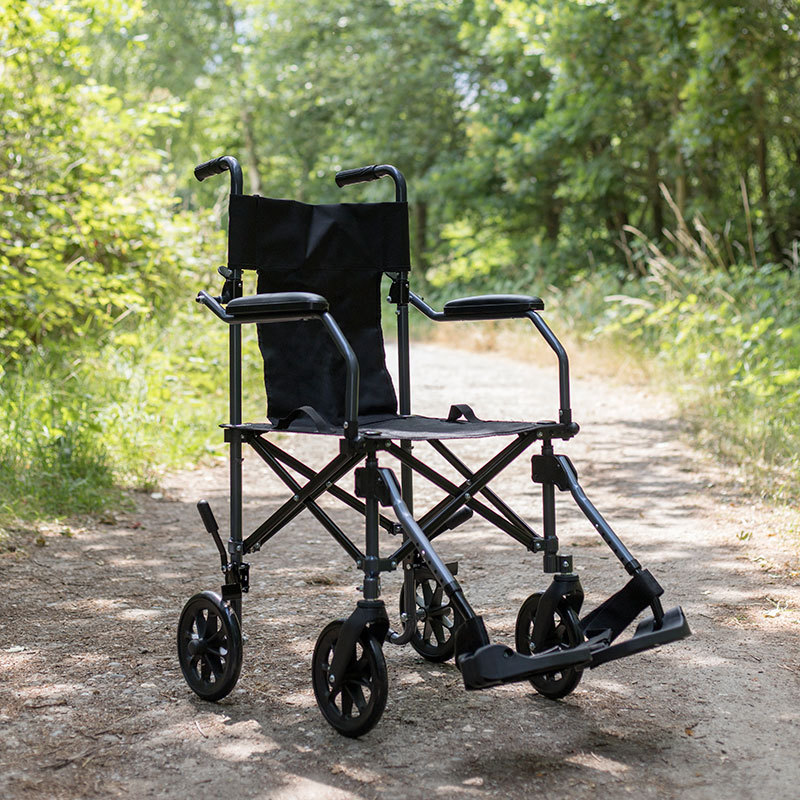 CareCo Fold and Go with Carry Bag Transit Wheelchair